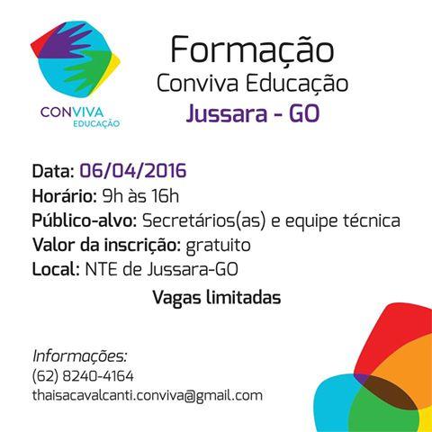 Formação I do Conviva Educação em Jussara-GO