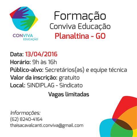Formação I do Conviva Educação em Planaltina-GO
